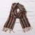 Men's 100% alpaca scarf, 'Winter Cheer' - Men's 100% alpaca scarf thumbail