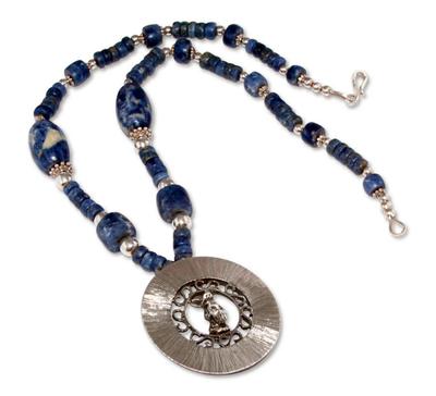 Sodalite pendant necklace