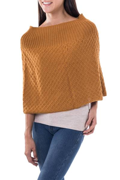 Fair Trade Alpaca Wool Poncho