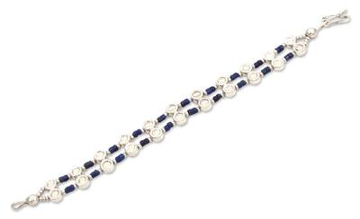 Handcrafted Sterling Silver and Lapis Lazuli Bracelet