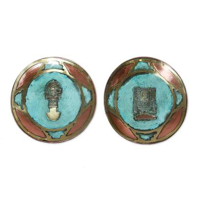 Copper and bronze plates (Pair)
