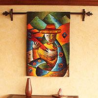 Alpaca blend tapestry,