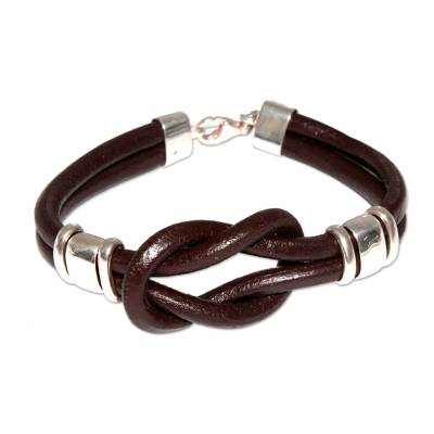 Hand Made Leather Wristband Bracelet