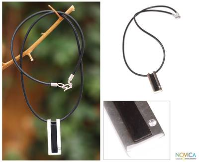Leather pendant necklace, Quechua Minimalist