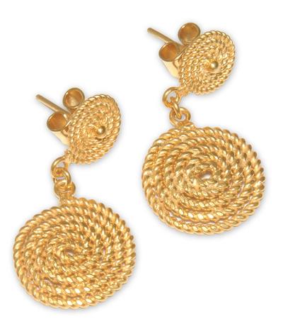 Fair Trade Vermeil Dangle Earrings
