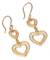 Gold vermeil filigree dangle earrings, 'Our Two Hearts' - Hand Made Peruvian Gold Vermeil Filigree Earrings (image 2a) thumbail