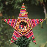 Treetop ornament, 'Nativity Star' - Hand Made Special Christmas Treetop Ornament