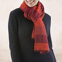 Featured review for 100% alpaca scarf, Diamond of the Andes