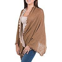 100% alpaca shawl,