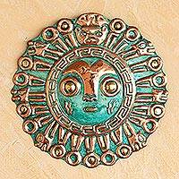 Copper and bronze mask, 'Coricancha Sun'