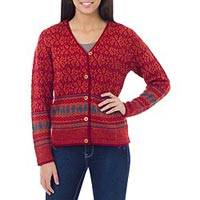 Featured review for 100% alpaca cardigan, Alpaca Fantasy