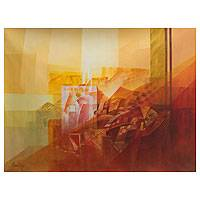 'Shapes and Light' (2012) - Original Oil Abstract Landscape Painting