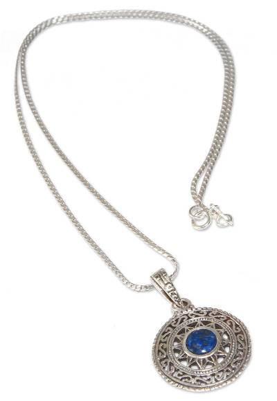Handcrafted Silver and Lapis Lazuli Necklace from Peru
