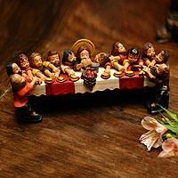 Ceramic statuette Andean Last Supper Peru