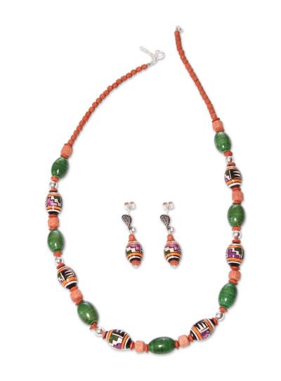 Fair Trade Ceramic Beaded Jewelry Set