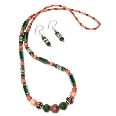 Hand Crafted Ceramic Beaded Jewelry Set