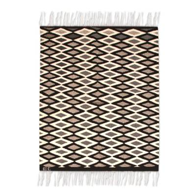 Wool rug, 'Diamonds' (2x3) - Wool rug (2x3)