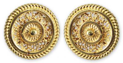Fair Trade Gold Plated Filigree Earrings