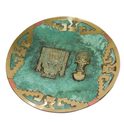 Copper and bronze plate