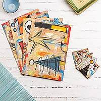 Placemats and coasters, 'Games' (set of 4) - Placemats and coasters (Set of 4)