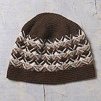 Men's 100% alpaca hat, 'Andean Explorer' - Men's 100% alpaca hat