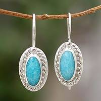 Amazonite drop earrings, 'Cool Water' - Amazonite drop earrings