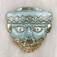 Copper and bronze mask, 'Bearded Nobleman' - Copper and bronze mask