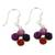 Steel and sterling silver dangle earrings, 'Colorful Yarn' - Steel and sterling silver dangle earrings (image 2a) thumbail
