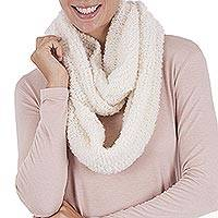 Alpaca blend infinity scarf, 'Natural Infinity' - Alpaca blend infinity scarf