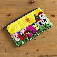Applique cosmetic bag Sunny Afternoon Peru