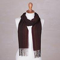 Alpaca and silk blend scarf,