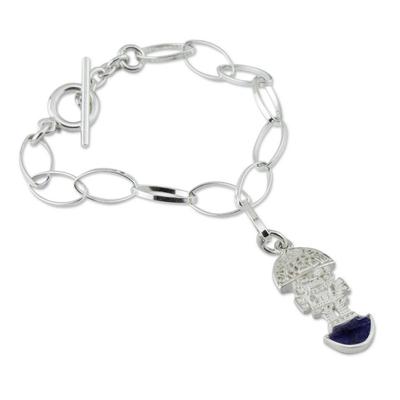 Sodalite Charm Bracelet 925 Sterling Silver