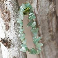 Beaded quartz stretch bracelet, 'Nature's Creativity' - Beaded stretch bracelet