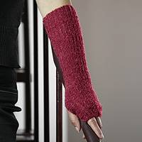 Alpaca blend fingerless mitts,