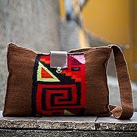 Alpaca blend shoulder bag,