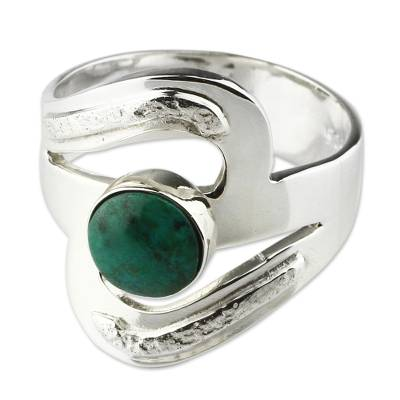 Artisan Crafted Chrysocolla Cocktail Ring