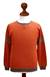 Men's 100% alpaca sweater, 'Chakana Wanderer' - Orange Alpaca Pullover Sweater for Men (image 2d) thumbail