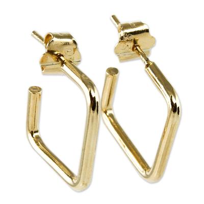 18k Gold Plated Half Hoop Earrings