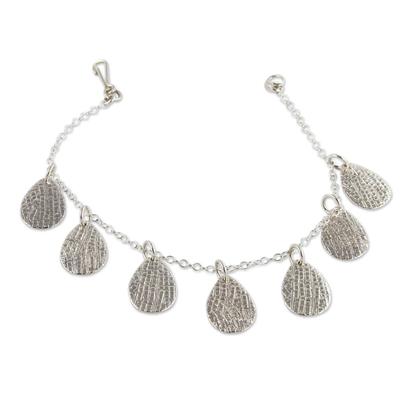 Handcrafted Sterling Silver Charm Bracelet