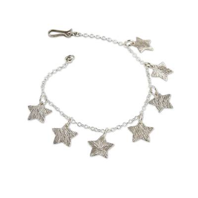 Handmade Silver Charm Bracelet from Peru