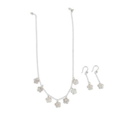 Handcrafted Sterling Silver Jewelry Set from Peru
