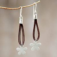 Silver flower earrings, 'Andean Wildflowers' - Silver Flower Earrings Peruvian Jewelry