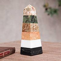 Multi-gemstone obelisk, 'Total Energy' - Natural Multi-gemstone Obelisk Sculpture