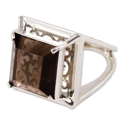 Artisan Crafted Smoky Quartz Ring Peru Jewelry