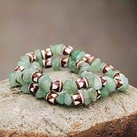 Ceramic stretch bracelets,