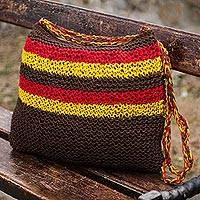 Jute shoulder bag,