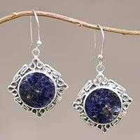 Sodalite dangle earring,