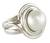 Cultured pearl cocktail ring, 'Stability' - White Pearl Cocktail Ring (image 2a) thumbail