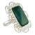 Chrysocolla cocktail ring, 'Andean Purity' - Artisan Crafted Chrysocolla and Sterling Silver Ring (image 2a) thumbail
