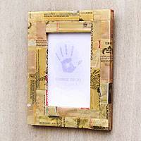 Recycled material photo frame,